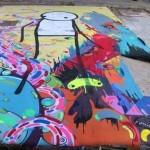 Stik x Milo Tchais New Street Piece In London