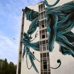 Pantonio creates a new mural in Lagny, France