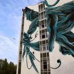 Pantonio creates a new mural in Lagny, France