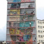 Da Mental Vaporz (Dran, Bom.K, Sowat…) New Mural In Progress, Brest France Part II
