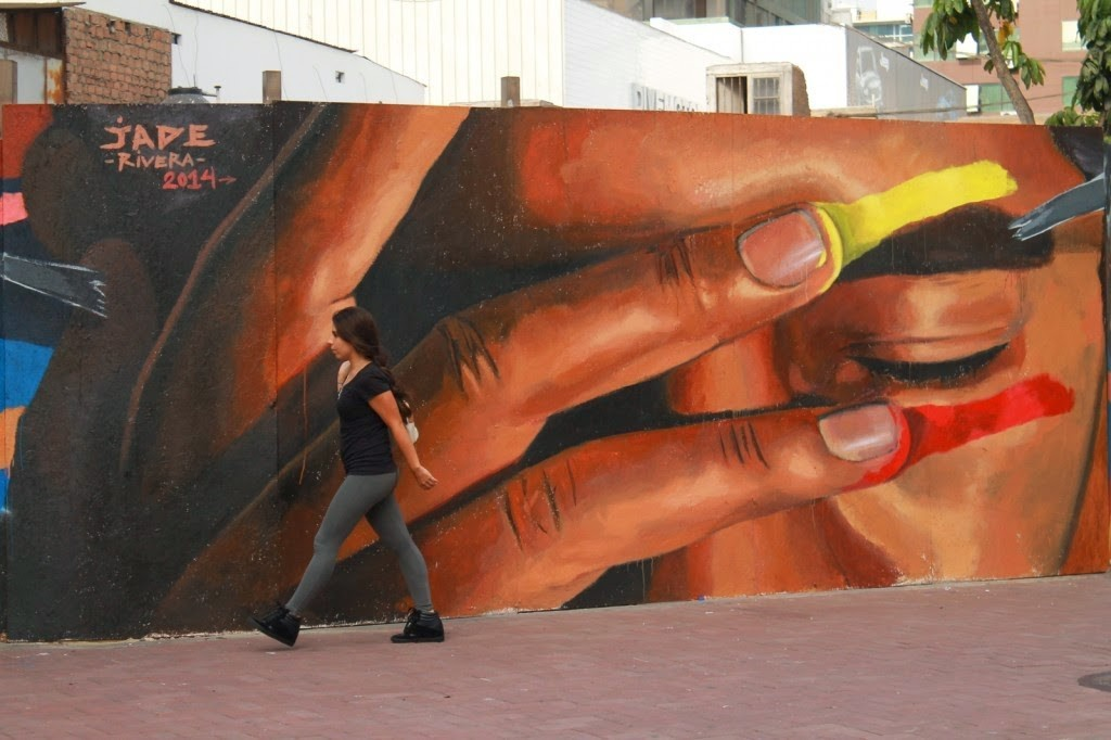 JADE New Mural For The Mirafau Festival – Lima, Peru