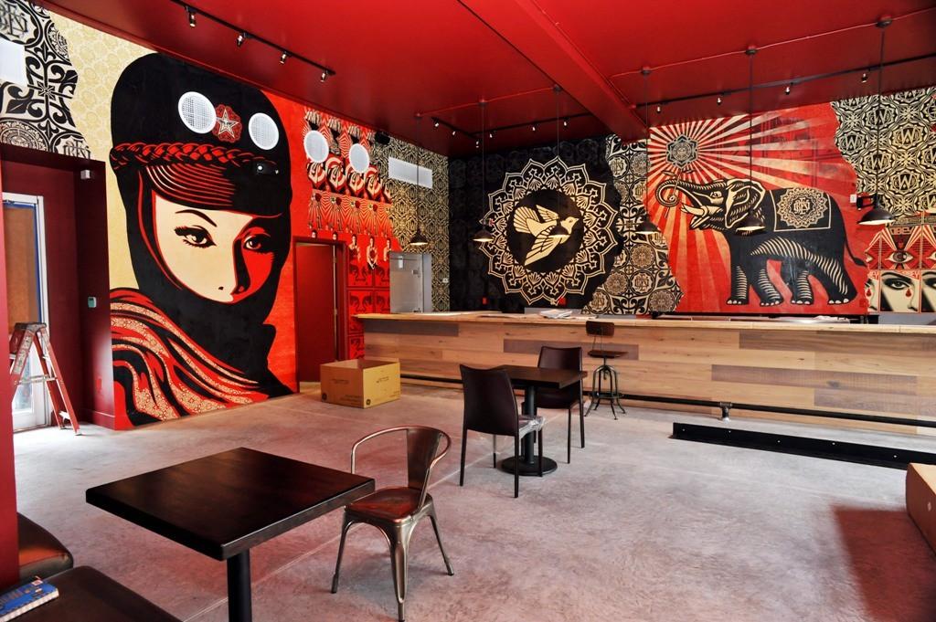 Shepard Fairey Mural at Art Basel Miami 2010