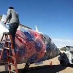 Andrew Schoultz New Airplane Piece In Progress, Arizona