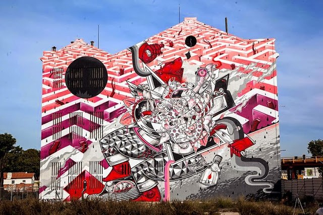 How & Nosm New Mural - Lisbon, Portgual