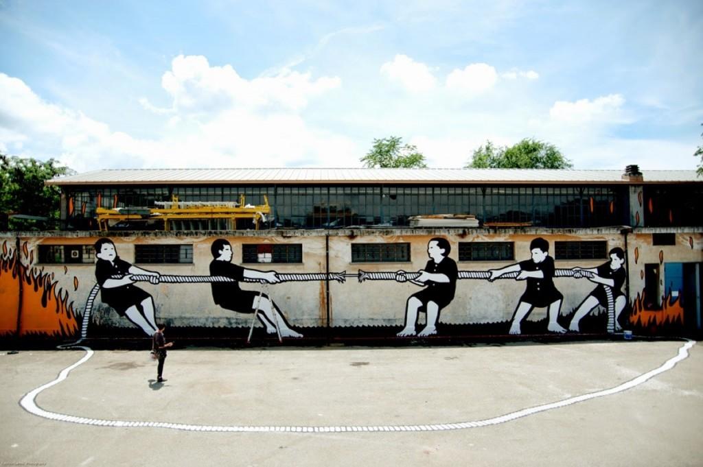 "MP5 ""Titani"" New Mural – Turin, Italy"