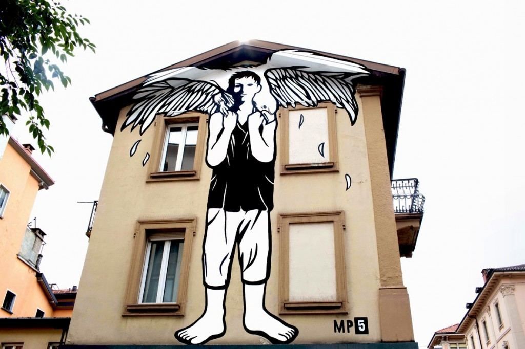 "MP5 ""Open God"" New Mural – Lugano, Switzerland"