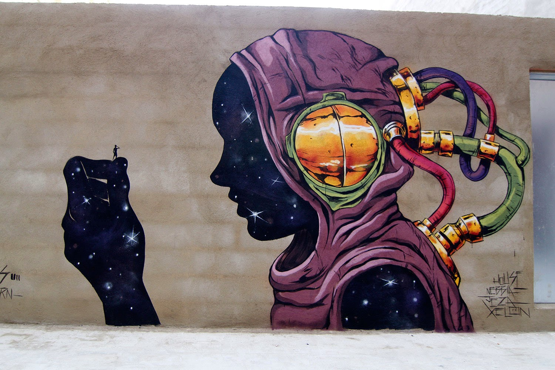 Deih New Street Art Mural - Barrio del Carmen, Valencia