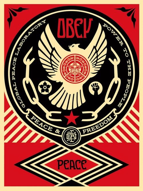 "Shepard Fairey ""Peace And Freedom Dove"" Limited Edition Screen Print"