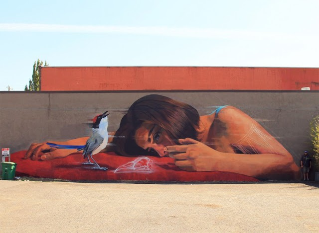 Jade unveils a new mural in Portland, USA