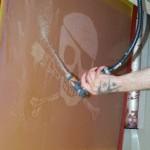 Banksy POW Skull Screenprint Process Pics