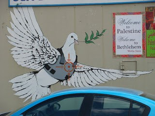Banksy Peace Dove in Palestine