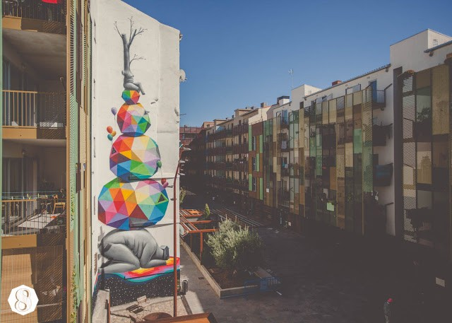 Okuda New Mural For Asalto '13 In Zaragoza, Spain