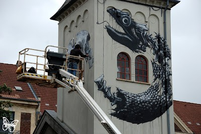 Roa, Grito, Ripo.. New Murals For Galore Festival In Copenhagen, Denmark (Part 1)