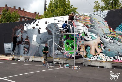 Da Mental Vaporz (Dran, Bom.K, Sowat…) Mural In Copenhagen Action Shots And Video