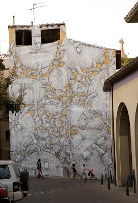 Blu New Mural In Tudela De Navarra, Spain