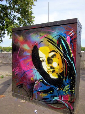 C215 New Street Piece In Paris, France