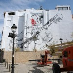El Mac New Mural In Progress, Tudela De Navarra Spain