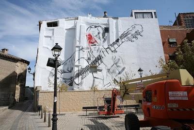 El Mac New Mural In Progress, Tudela De Navarra Spain