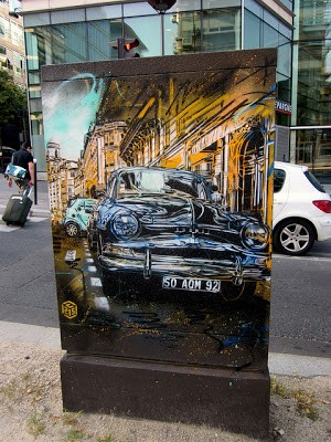 C215 New Street Pieces In Paris, France