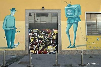 Interesni Kazki New Street Piece In Milano, Italy
