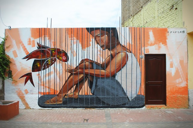 Jade New Mural In Huanchaco, Peru (Part II)