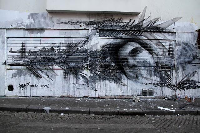 Ben Slow x Mac1 New Mural In Paris