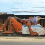 """Understanding and Protection"" a new mural by JADE in Barranco, Lima"