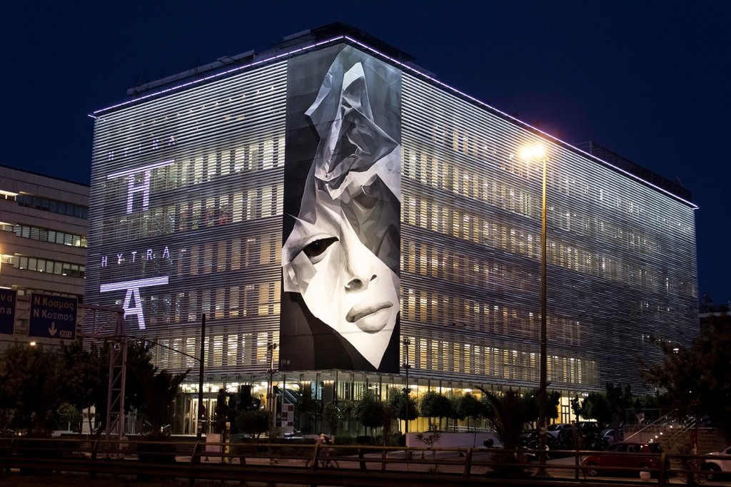 "iNO ""Creasing"" New Mural – Athens, Greece"