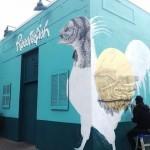 La Pandilla New Mural in Progress, Los Angeles, USA