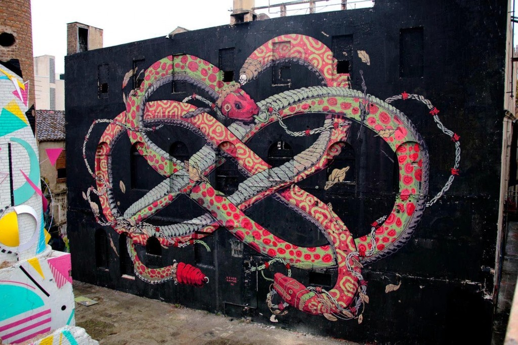 Smithe & Seher unveil a new collaborative mural in Barcelona, Spain
