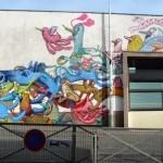 Alëxone New Mural For Kosmopolite Art Tour In Bagnolet, France