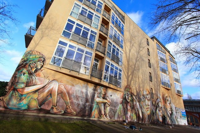 "Alice ""Suspended"" New Mural – Berlin, Germany"