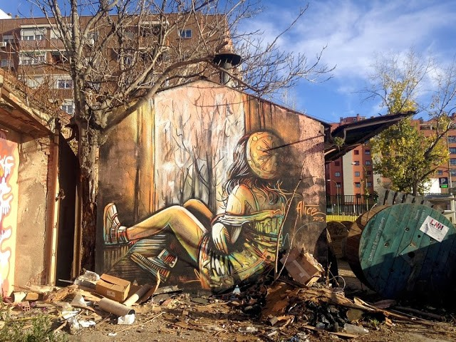 Alice New Mural at La Neomudejar de Atocha – Madrid, Spain