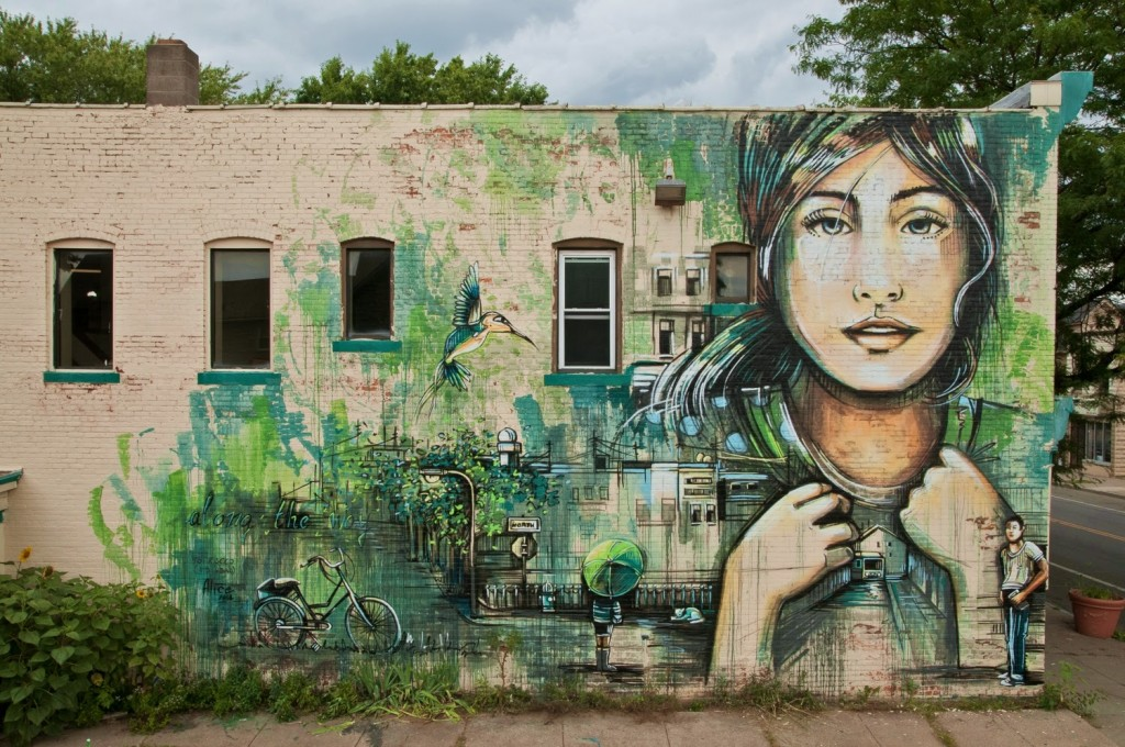 Alice New Mural For Wall Therapy '14 – Rochester, USA