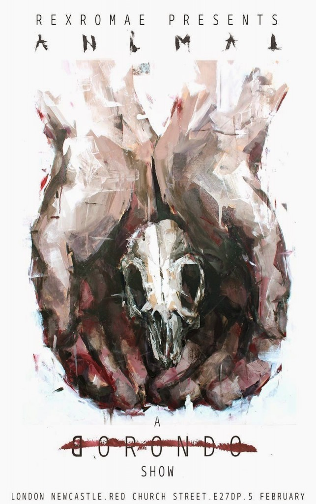 "Borondo ""Animal"" Solo Exhibition @ London's RexRomae – February 5th"