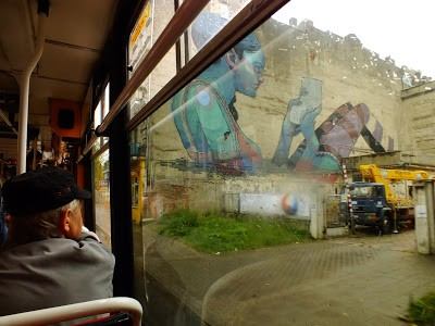 Aryz New Mural In Progress In Lodz, Poland