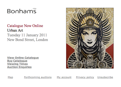 Bonhams Urban Art Auction 11th January 2011 London