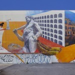 """Gaia """"il piccone demolitore e risanatore"""" New Mural – Rome, Italy"""