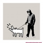 Banksy 'Choose Your Weapon' Print Warm Grey 19th Color