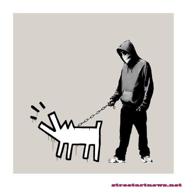 Banksy 'Choose Your Weapon' Print Warm Grey 19th Color