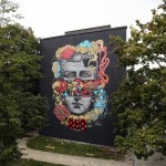 Blo creates a new piece on the streets of Berlin in Germany