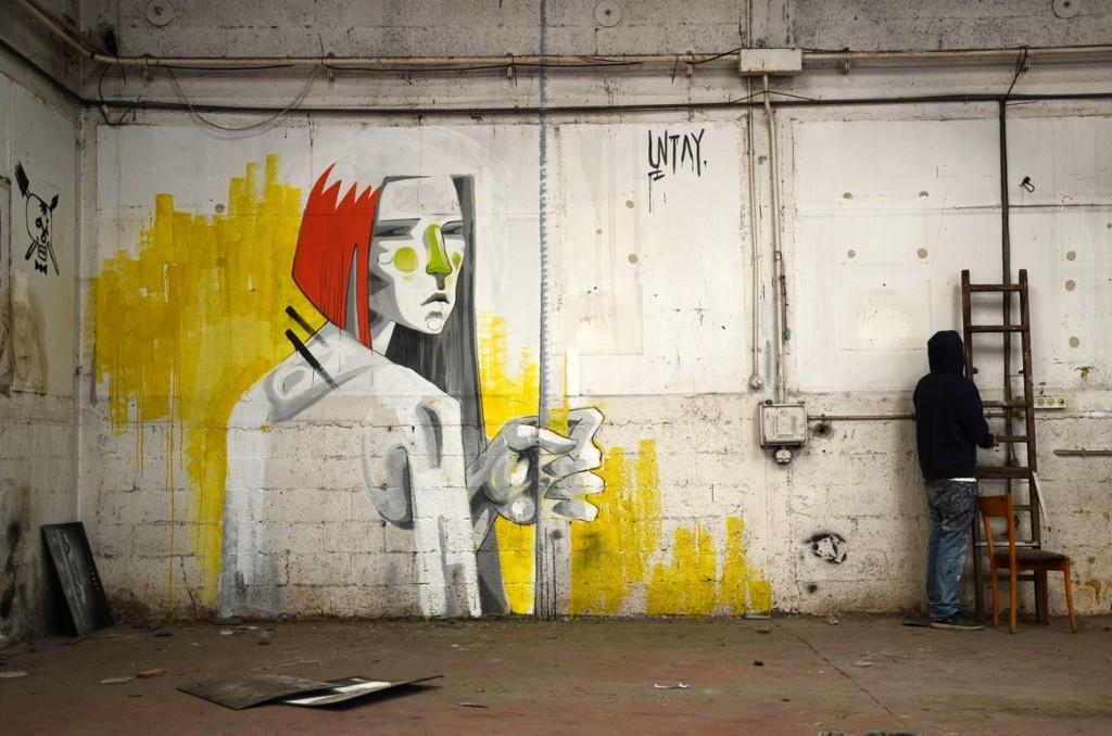 UNTAY New Indoor Mural – Tel Aviv, Israel