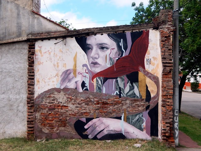 Fran Bosoletti latest street art in Armstrong, Argentina
