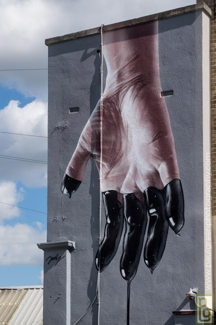 Jody creates a new piece for Upfest in Bristol, UK