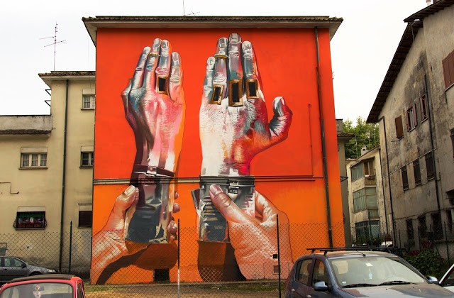 Case reveals a brand new mural in Valmontone, Italy for Memorie Urbane '15