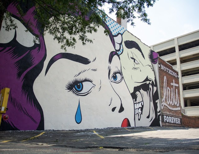"""Nothing Lasts Forever"", a new piece by DFace in Richmond, Virginia"