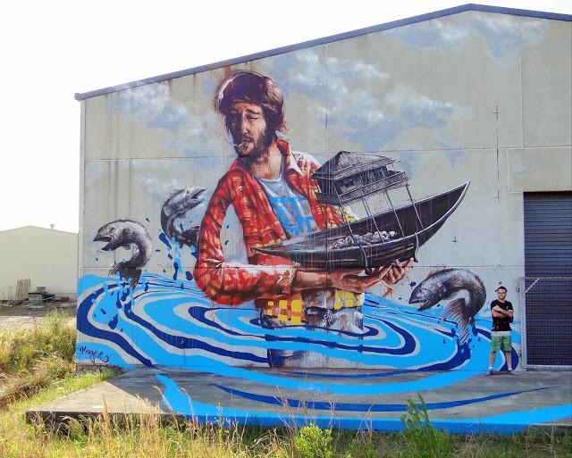 Fintan Magee New Street Art - Coffs Harbour, Australia