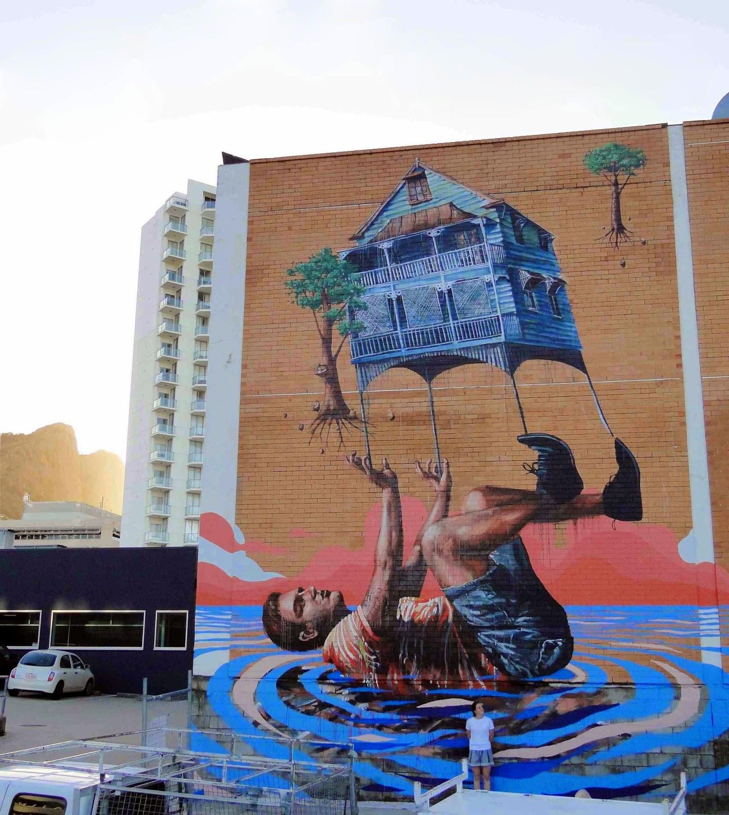 Fintan magee new mural townsville australia for Mural street art