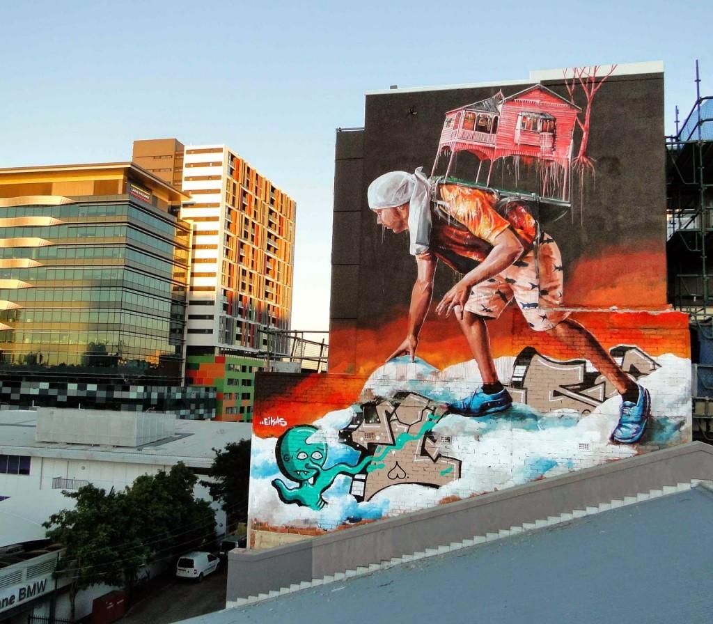Fintan Magee New Mural – Brisbane, Australia