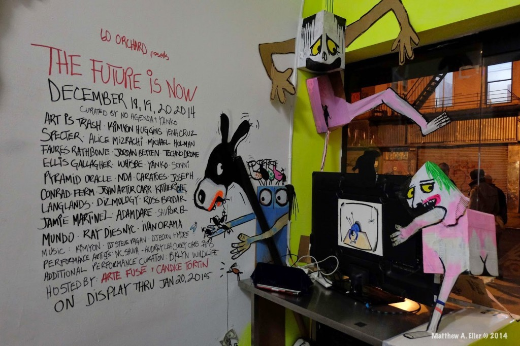 "Coverage: ""The Future is Now"" a group show featuring Art is Trash, Kimyon Huggins, Sonni…."